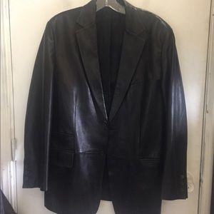 Tom Ford Gucci leather lamb skin blazer size 50